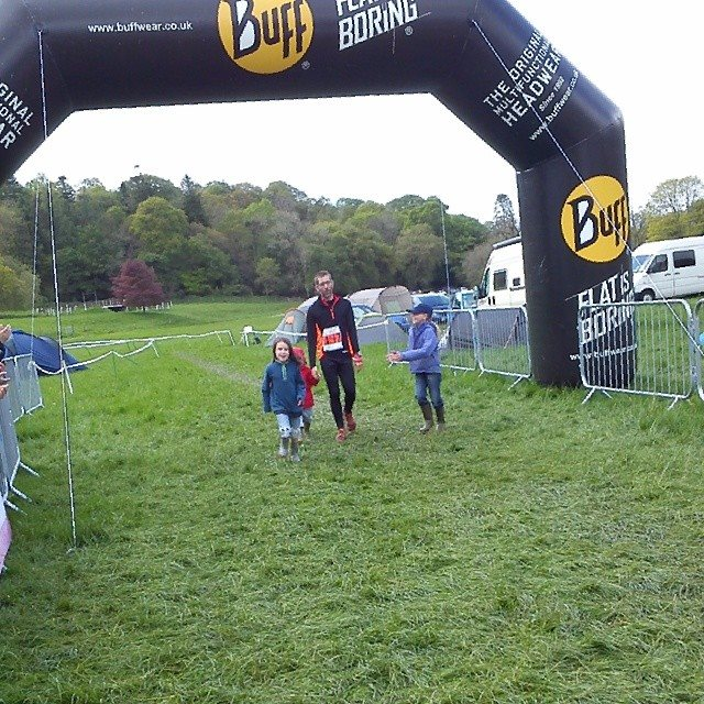 being dragged and clapped over the finish line by the wild things