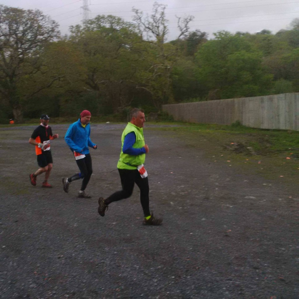 Me running through the shooting ground carpark somewhere between mile 30 and 50 - Stan Kellet
