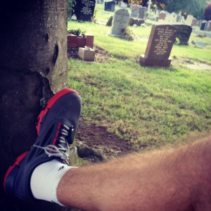 Hanging about in a grave yard / craft socks